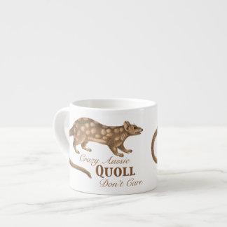 Crazy Aussie Quoll Don't Care - Australian Humor Espresso Cup
