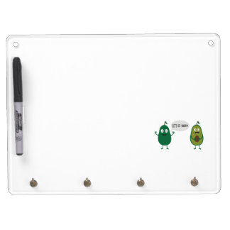 crazy avocado undresses dry erase board with keychain holder
