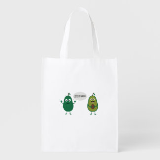 crazy avocado undresses grocery bag