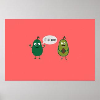 crazy avocado undresses poster