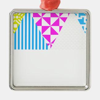 Crazy Aztec Colour Fun 80's Look Metal Ornament