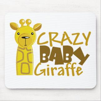 crazy baby giraffe mouse mats