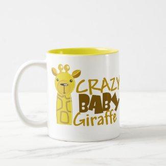Crazy Baby Giraffe Mug mug