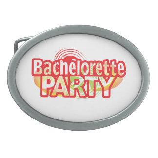 crazy bachelorette party wild retro vintage crazy oval belt buckle