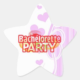 crazy bachelorette party wild retro vintage crazy star sticker