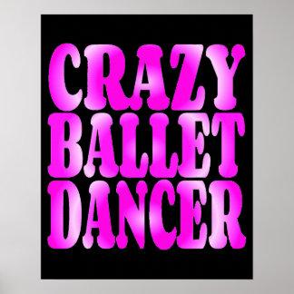 Crazy Ballet Dancer in Pink Print
