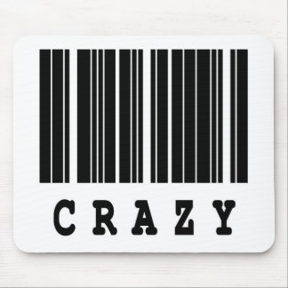 crazy barcode design mouse pad