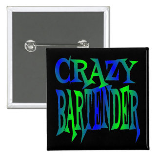 Crazy Bartender 2 Inch Square Button