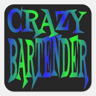 Crazy Bartender Square Sticker