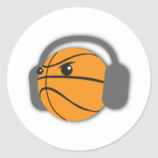 Crazy Basketball Classic Round Sticker