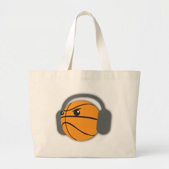 Crazy Basketball Large Tote Bag