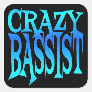 Crazy Bassist Square Sticker