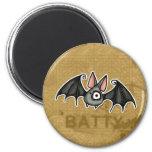 crazy bat 2 inch round magnet
