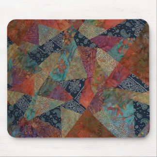 Crazy Batik Quilt Mouse Pad