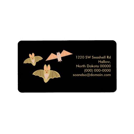 Crazy Bats Halloween Address Label