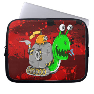 Crazy Battle Snail Electronics Sleeve 10in Laptop Computer Sleeve