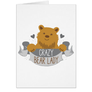 crazy bear lady banner card