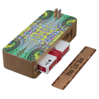 Crazy Beautiful Abstract Cherry Cribbage Board