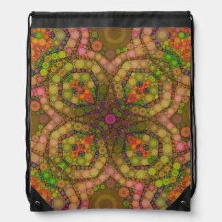 Crazy Beautiful Abstract Drawstring Bags