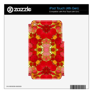 Crazy Beautiful Abstract Skins For iPod Touch 4G