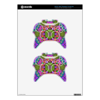Crazy Beautiful Abstract Xbox 360 Controller Skin