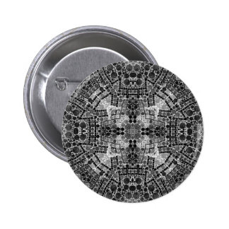 Crazy Beautiful Black&White Abstract 2 Inch Round Button