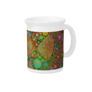 Crazy Beautiful Neon Abstract Beverage Pitchers
