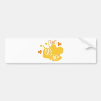 Crazy Bee lady Bumper Sticker