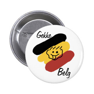 Crazy belgian pinback button