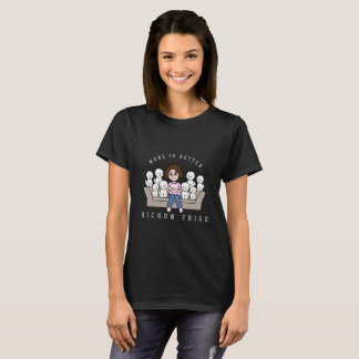 Crazy Bichon Frise Mom Illustrated T-Shirt