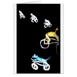 Crazy Bikers in the Dark! Card