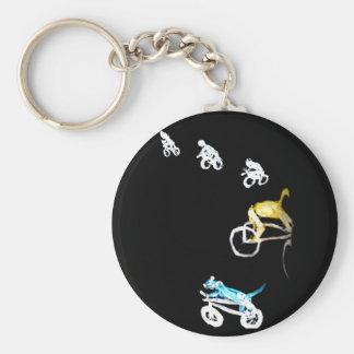 Crazy Bikers in the Dark! Keychain
