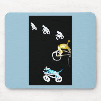 Crazy Bikers in the Dark! Mouse Pad