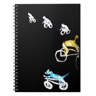Crazy Bikers in the Dark! Notebook