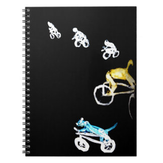 Crazy Bikers in the Dark! Notebooks