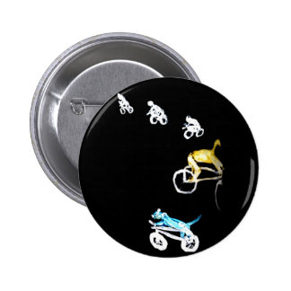Crazy Bikers in the Dark! Pinback Button