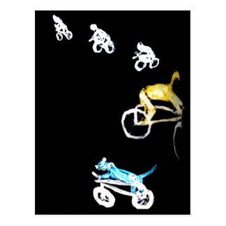Crazy Bikers in the Dark! Postcard