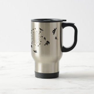 Crazy Bikes in a cycling whirl Travel Mug