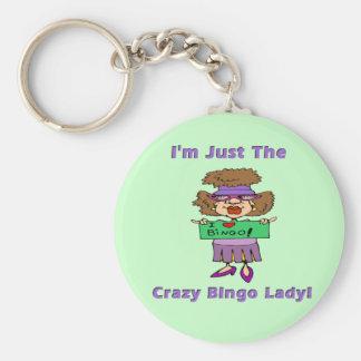 Crazy Bingo Lady Keychain