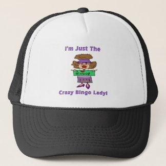 Crazy Bingo Lady Trucker Hat