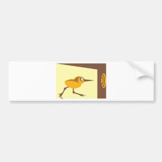Crazy Bird Bumper Sticker