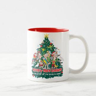Crazy Bird Ladies Christmas Mug