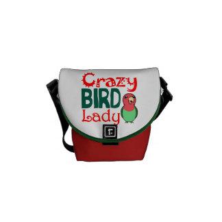 Crazy bird lady courier bag