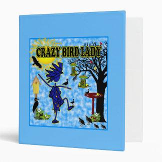 Crazy Bird Lady Design Binder