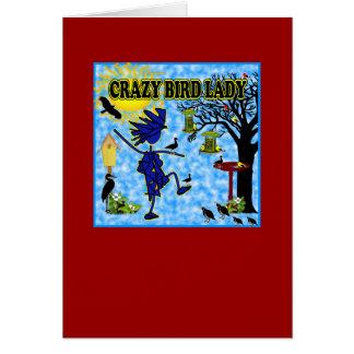 Crazy Bird Lady Design Card