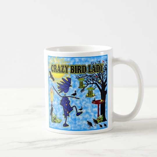Crazy Bird Lady Design Coffee Mug