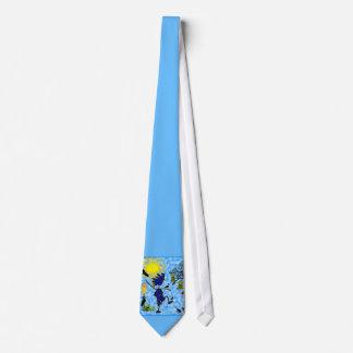 Crazy Bird Lady Design Neck Tie