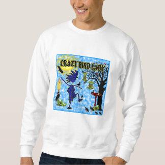 Crazy Bird Lady Design Sweatshirt