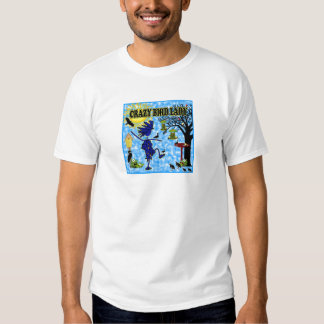 Crazy Bird Lady Design T-shirt