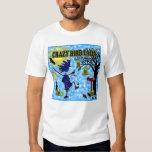 Crazy Bird Lady Design T Shirts